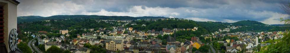 Idar-Oberstein - Bilck aus der Felsenkirche ins Tal