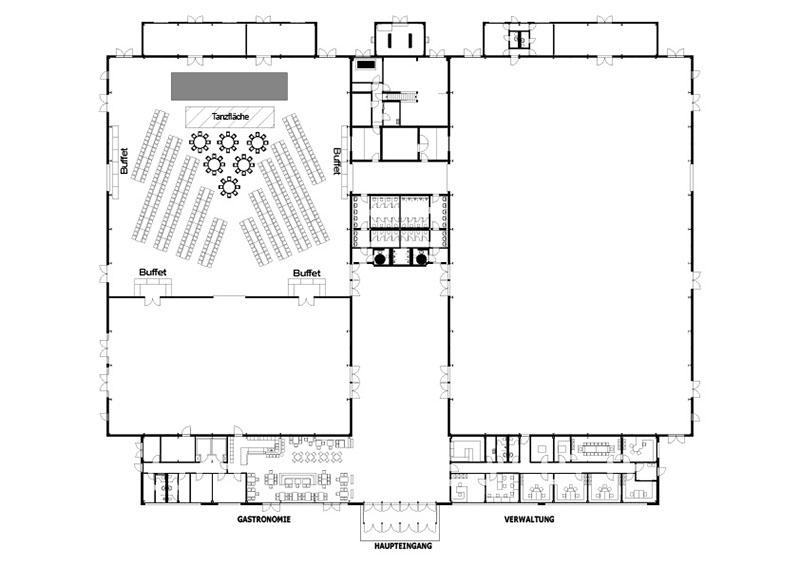 Gala-Events, Z.B. Abi Ball - Beispiel Bankettbestuhlung In Halle 2 Bis Zu 500 Sitzplätze