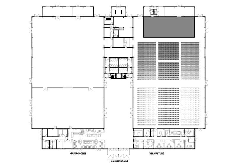 Konzerte & Shows - Beispiel Reihenbestuhlung In Halle 1 Bis Zu 2400 Sitzplätze