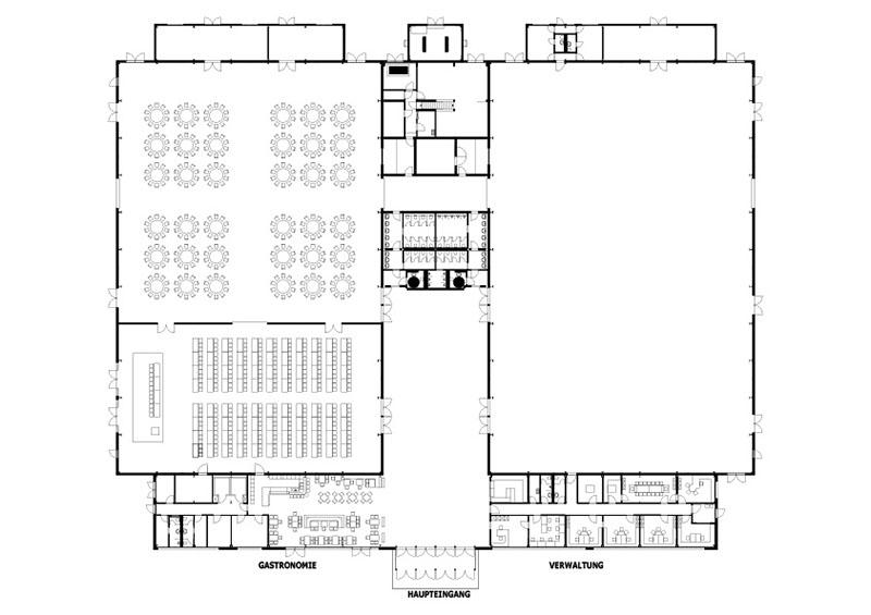Tagung/Konferenz Mit Galaabend - Beispiel Gemischte Bestuhlung In Halle 2 Und 3