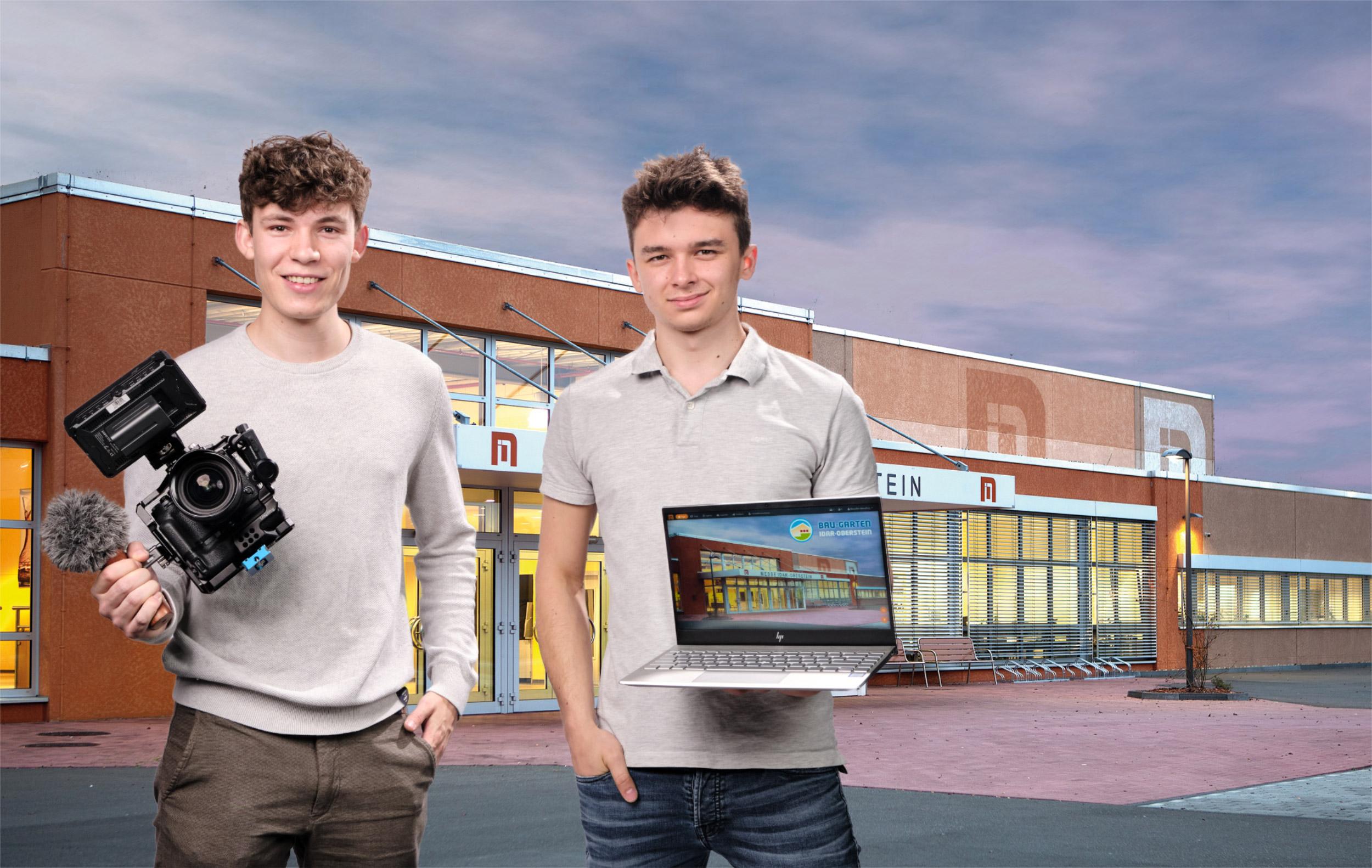 Partner Der BAU+Garten Digital 2021 Vincent Dommer, RECANO (links) Und Benedikt Wendling, LSI - Light Sound Image Veranstaltungstechnik